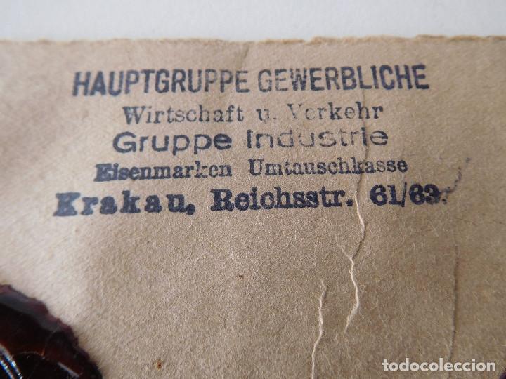 Militaria: Sobre original de la Alemania nazi con lacres - Foto 7 - 194107853