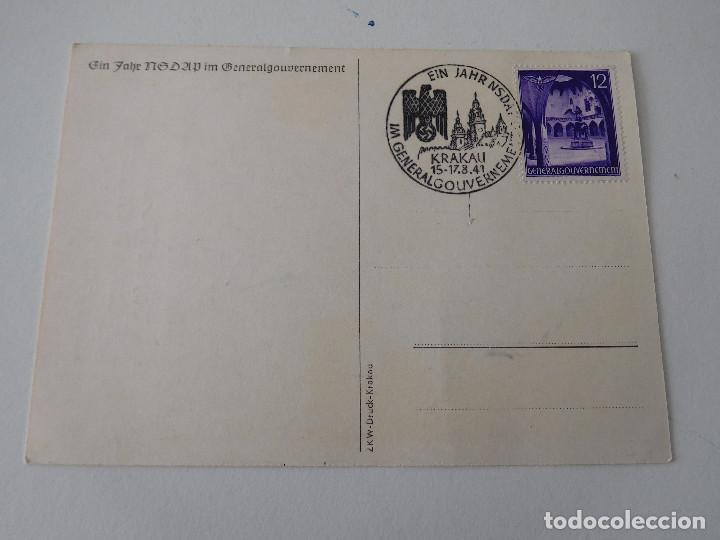 Militaria: Postal original de la Alemania nazi NSDAP - Foto 2 - 194107981