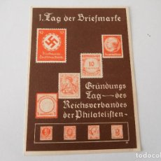 Militaria: POSTAL ORIGINAL DE LA ALEMANIA NAZI SELLOS. Lote 194108052
