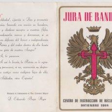 Militaria: JURA DE BANDERA -- CENTRO DE INSTRUCCIÓN DE RECLUTAS Nº 9 -- DICIEMBRE 1968. Lote 194237038