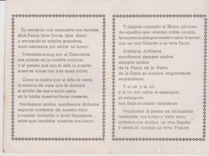 Militaria: HIMNO DE LOS ARTILLEROS - Foto 2 - 194237268