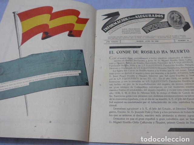 Militaria: * Antiguo librito esquela del conde de rosillo, 1950, original. ZX - Foto 3 - 194238250