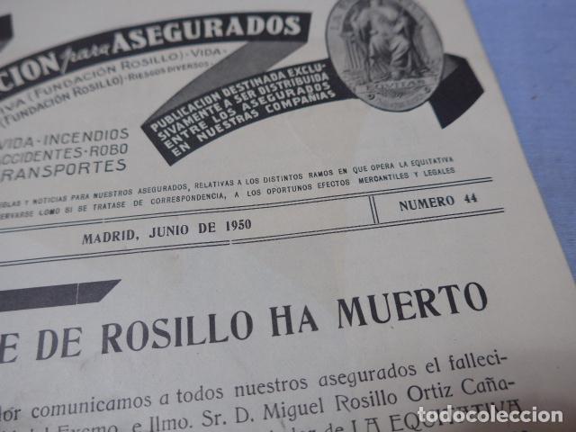 Militaria: * Antiguo librito esquela del conde de rosillo, 1950, original. ZX - Foto 4 - 194238250