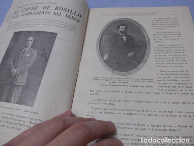 Militaria: * Antiguo librito esquela del conde de rosillo, 1950, original. ZX - Foto 5 - 194238250
