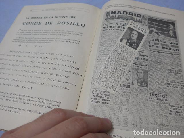 Militaria: * Antiguo librito esquela del conde de rosillo, 1950, original. ZX - Foto 6 - 194238250