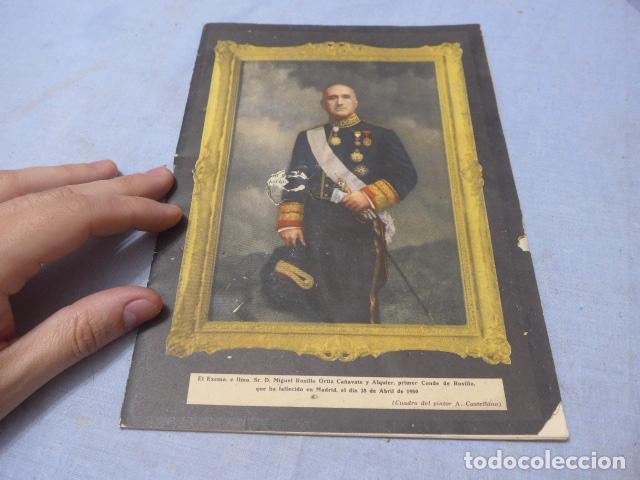 * ANTIGUO LIBRITO ESQUELA DEL CONDE DE ROSILLO, 1950, ORIGINAL. ZX (Militar - Propaganda y Documentos)