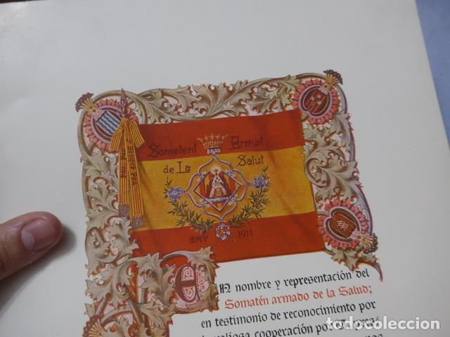 Militaria: * Antigua concesion diploma del somaten armado de cataluña, 1913, original. ZX - Foto 2 - 194239098