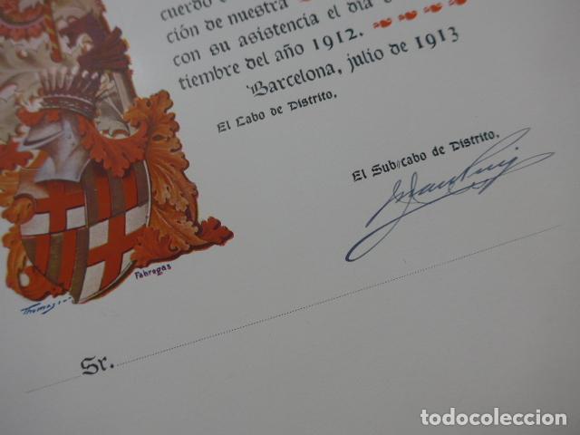 Militaria: * Antigua concesion diploma del somaten armado de cataluña, 1913, original. ZX - Foto 4 - 194239098
