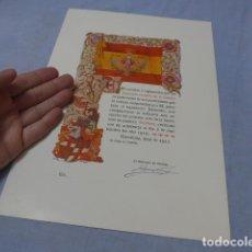 Militaria: * ANTIGUA CONCESION DIPLOMA DEL SOMATEN ARMADO DE CATALUÑA, 1913, ORIGINAL. ZX. Lote 194239098