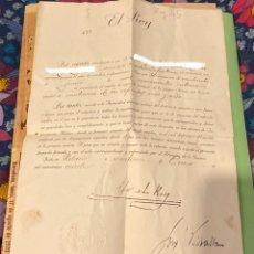 Militaria: CARTA DE ALFONSO XIII DE NOMBRAMIENTO AL SEGUNDO TENIENTE DE INFANTERÍA 1920 GUERRA AFRICANA. Lote 194245470
