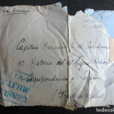 Militaria: (JX-200284)CARTA GUERRA CIVIL ,CENSURA AVILA 14 REG.LIGERO DE ARTILLERÍA,CAPITÁN BERNARDO G.DE CANDA. Lote 194273948