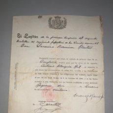 Militaria: REGIMIENTO DE INFANTERÍA. SAN QUINTÍN. 1921. Lote 194312012