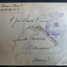 Militaria: (JX-200286)CARTA ALFÉREZ PROVISIONAL,DIBUJO DEDICADO,FRANQUICIA DESTRUCTOR TERUEL,GUERRA CIVIL.. Lote 194312108