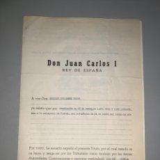 Militaria: GRAN DOCUMENTO. DON JUAN CARLOS I. Y MINISTRO DE JUSTICIA. 1976-77-82. NOMBRAMIENTO FISCAL. Lote 194313205