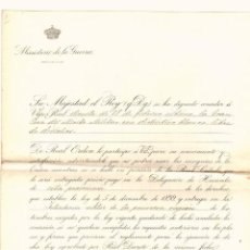 Militaria: MINISTERIO DE GUERRA. CONCESION DE CRUZ DE MERITO MILITAR MARQUES DE VILLASINDA. MADRID. AÑO 1913. Lote 194402078