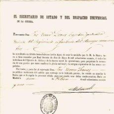 Militaria: DESPACHO DE GUERRA. CEDULA REAL CONCEDIENDO USO DE MEDALLA A TENIENTE DE REGIMIENTO DE INFANTERIA. Lote 194402370
