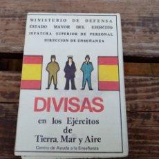 Militaria: DIVISAS EN LOS EJÉRCITOS DE TIERRA, MAR Y AIRE. Lote 194499132