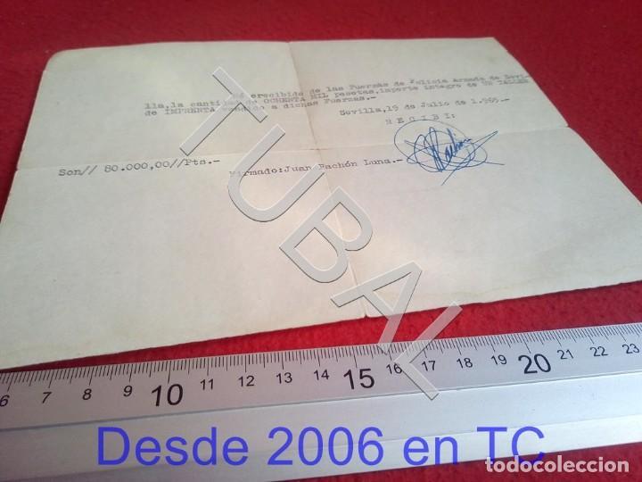 TUBAL POLICIA ARMADA SEVILLA COMPRA IMPRENTA RECIBO 1965 100% ORIGINAL B47 (Militar - Propaganda y Documentos)