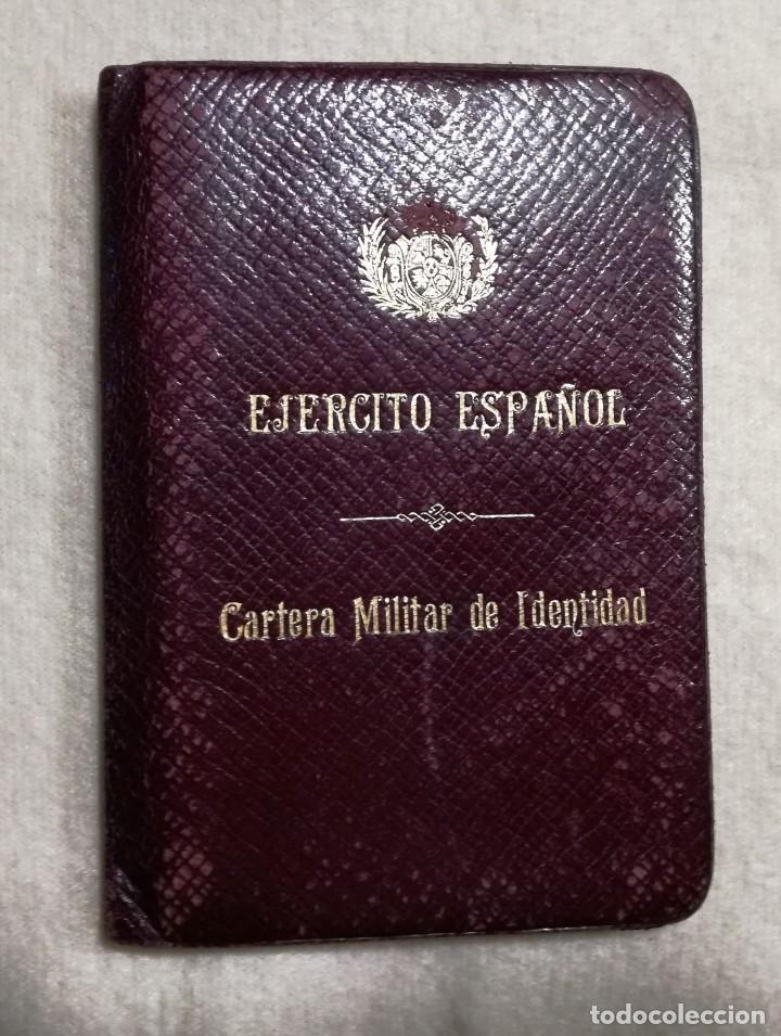 ANTÍGUA CARTERA MILITAR DE IDENTIDAD - INTERVENTOR GENERAL DEL EJÉRCITO - REINADO DE ALFONSO XIII (Militar - Propaganda y Documentos)
