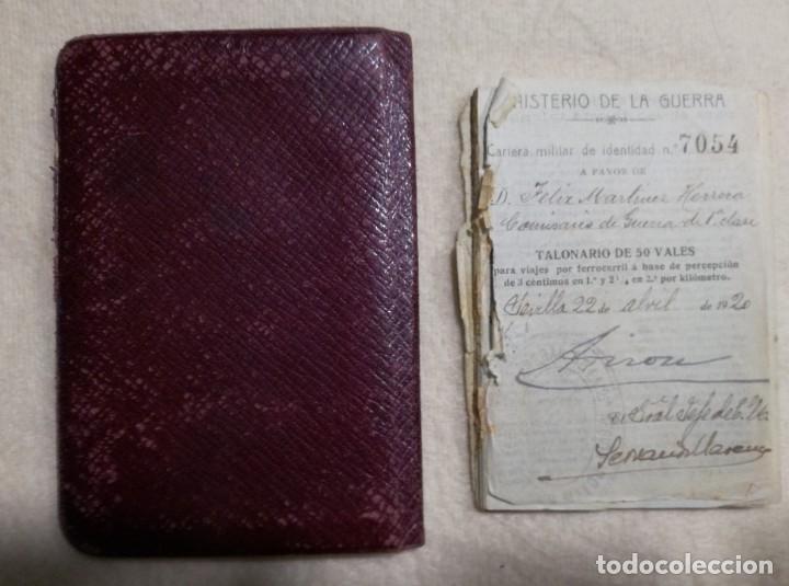 Militaria: Antígua Cartera Militar de Identidad - Interventor General del Ejército - Reinado de Alfonso XIII - Foto 3 - 194512140