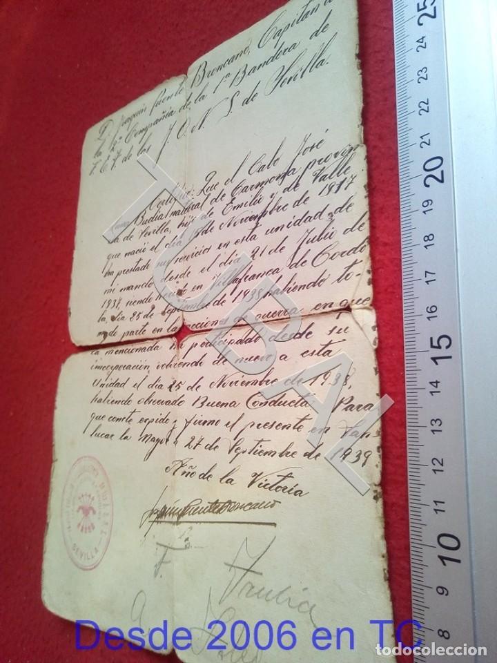 TUBAL SANLUCAR LA MAYOR 1939 SELLO FALANGE SEVILLA FILIACION 100% ORIGINAL B47 (Militar - Propaganda y Documentos)
