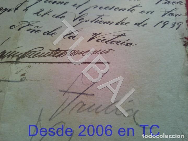 Militaria: TUBAL SANLUCAR LA MAYOR 1939 SELLO FALANGE SEVILLA FILIACION 100% ORIGINAL B47 - Foto 2 - 194514201