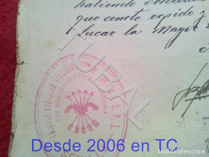 Militaria: TUBAL SANLUCAR LA MAYOR 1939 SELLO FALANGE SEVILLA FILIACION 100% ORIGINAL B47 - Foto 3 - 194514201