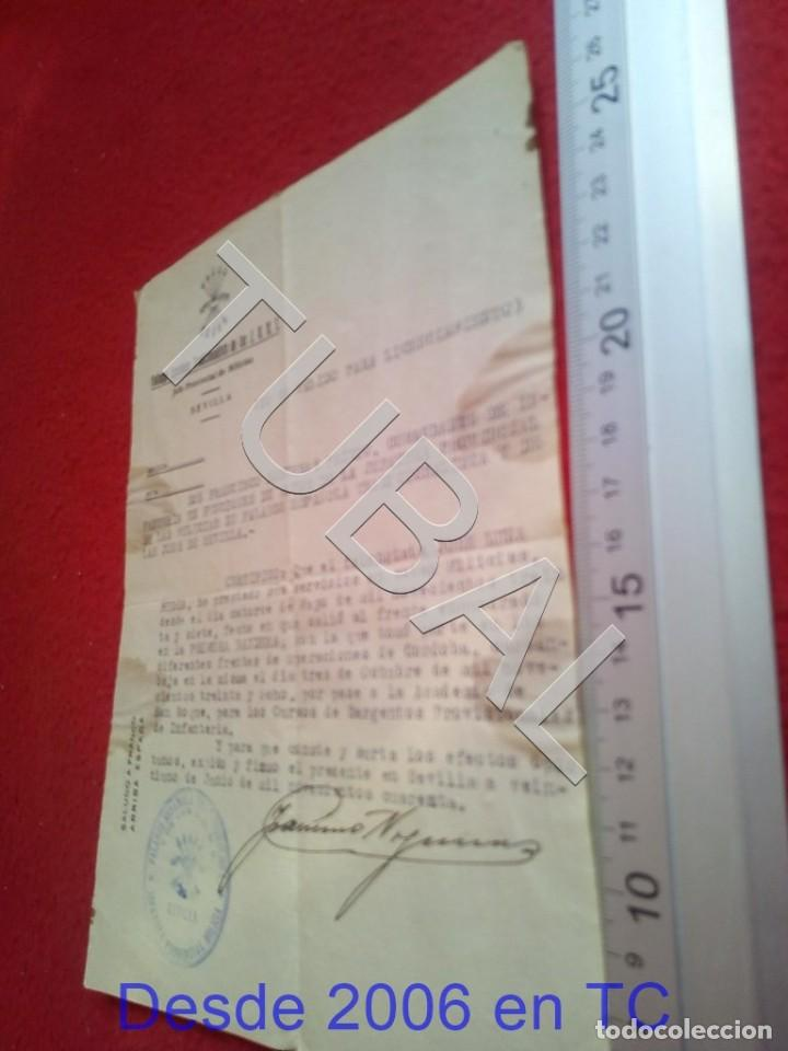 TUBAL SEVILLA 1940 SELLO FALANGE SEVILLA FILIACION 100% ORIGINAL B47 (Militar - Propaganda y Documentos)