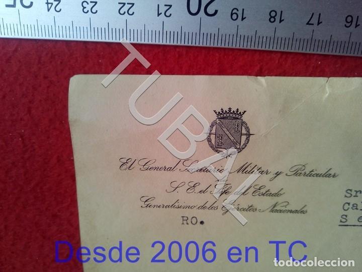Militaria: TUBAL GENERAL FRANCISCO FRANCO SALGADO ARAUJO CARTA CON FIRMA AUTOGRAFA 1950 100% ORIGINAL B47 - Foto 2 - 194515050