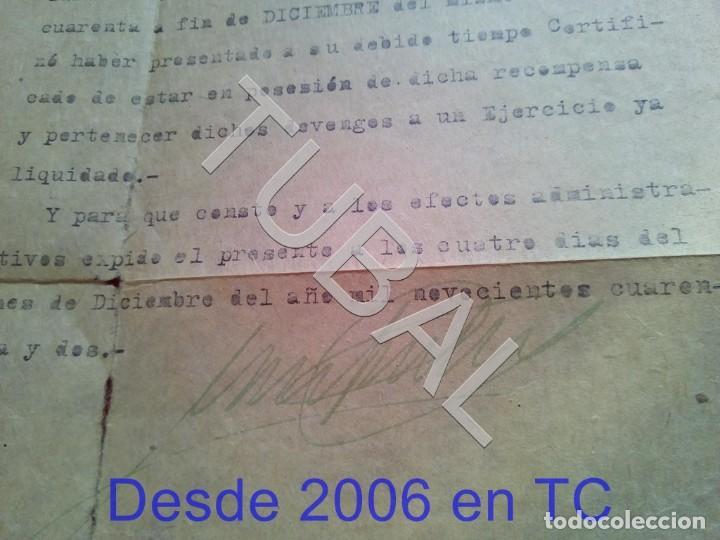 Militaria: TUBAL 1942 RECLAMO HABERES POR CRUZ DE GUERRA COMISARIA POLICIA ARMADA BARCELONA100% ORIGINAL B19 - Foto 2 - 194515578