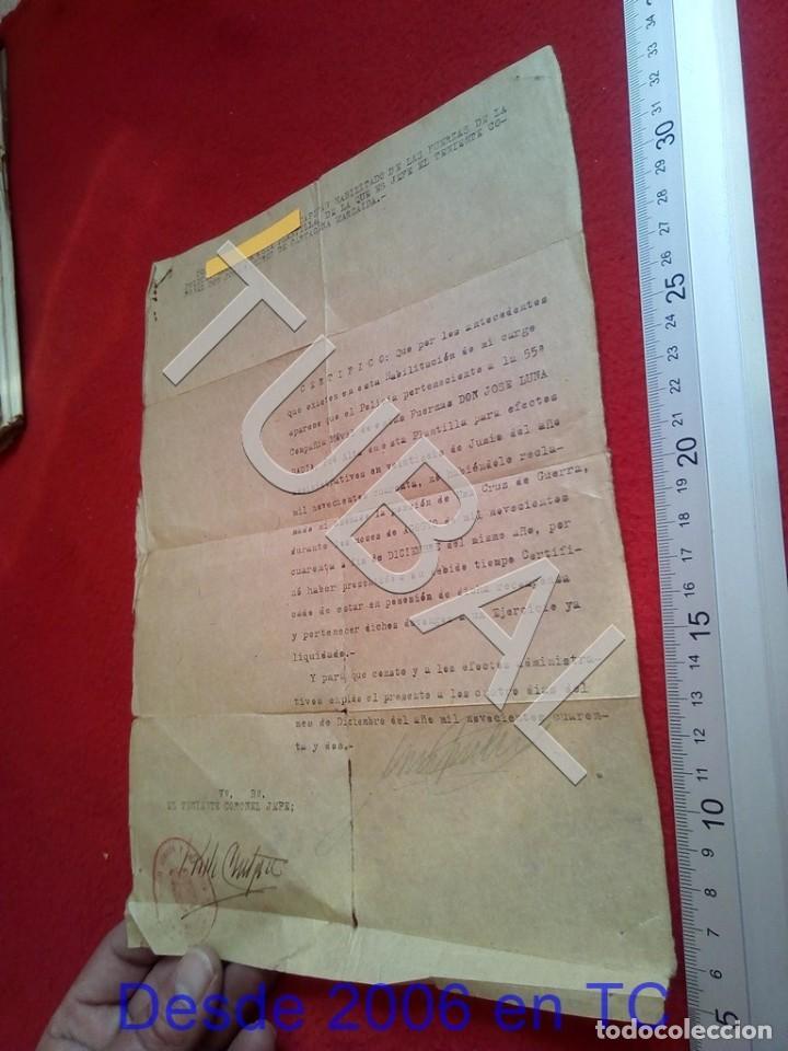 Militaria: TUBAL 1942 RECLAMO HABERES POR CRUZ DE GUERRA COMISARIA POLICIA ARMADA BARCELONA100% ORIGINAL B19 - Foto 4 - 194515578