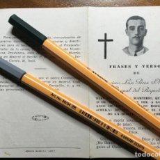 Militaria: MURCIA.GUERRA CIVIL 1936 FRANCISCO LUIS PEREZ MIRAVETE,MARTIRIO POR LOS ROJOS DE LA CHEKA. VILR . Lote 194645728