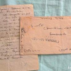Militaria: HOSPITAL LEGIONARIO ITALIANO..GUERRA CIVIL..CTV..VALLADOLID..1938..CENSURA..CARTA... Lote 194651565