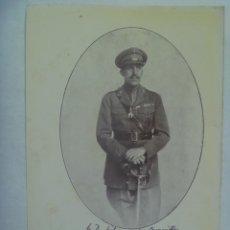 Militaria: PEQUEÑA LAMINA DEL REY ALFONSO XIII VESTIDO DE MILITAR, GENERAL CON TOISON DE ORO. Lote 194746056