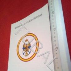 Militaria: TUBAL SEVILLA DIA DE LAS FUERZAS ARMADAS PROGRAMAS DE ACTOS DIPTICO 1985 B48. Lote 194766616