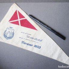 Militaria: BANDERÍN DE LA SECCIÓN DE MONTAÑA DE STANDARD ELÉCTRICA - VERANO DE 1953. Lote 194779658