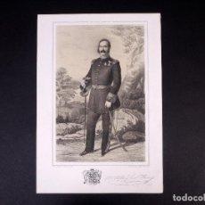 Militaria: MILITAR MARQUÉS DE SAN ISIDRO. BRIGADIER DE INFANTERÍA 1833. Lote 194884122