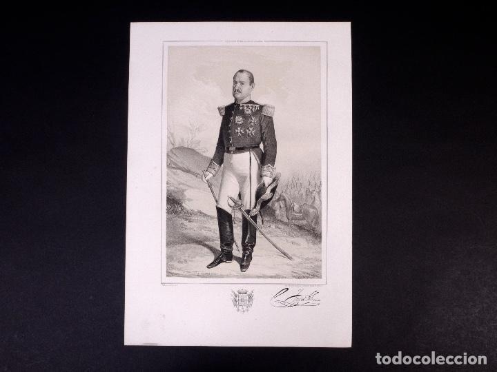 MILITAR D. JOSÉ ABECIA. BRIGADIER DE INFANTERÍA 1857 (Militar - Propaganda y Documentos)