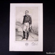 Militaria: MILITAR D. JOSÉ ABECIA. BRIGADIER DE INFANTERÍA 1857. Lote 194884452