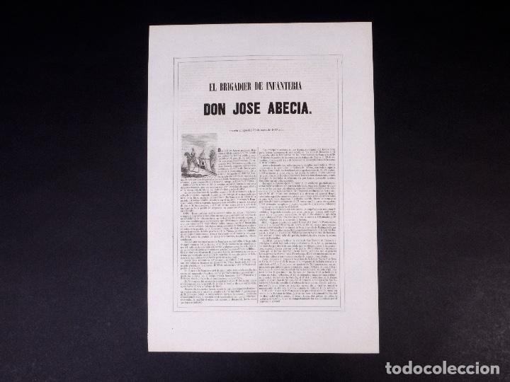 Militaria: MILITAR D. JOSÉ ABECIA. BRIGADIER DE INFANTERÍA 1857 - Foto 3 - 194884452