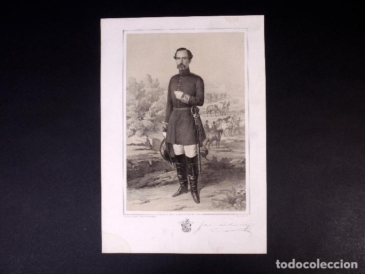 MILITAR D. JOSÉ DE SANTIAGO Y HOPPE. MARISCAL DE CAMPO 1854 (Militar - Propaganda y Documentos)