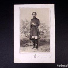 Militaria: MILITAR D. JOSÉ DE SANTIAGO Y HOPPE. MARISCAL DE CAMPO 1854. Lote 194884962