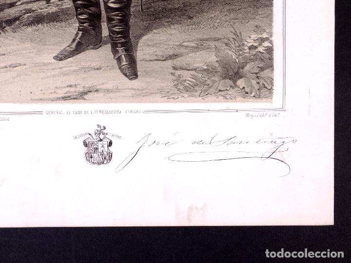 Militaria: MILITAR D. JOSÉ DE SANTIAGO Y HOPPE. MARISCAL DE CAMPO 1854 - Foto 2 - 194884962