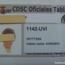 Militaria: CLUB MILITAR DE OFICIALES DE AVIACION DE TABLADA : CARNET DE SOCIA . SEVILLA, 2009. Lote 194894006
