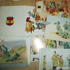 Militaria: DIVISON AZUL COLECCIÓN COMPLETA DE 20 POSTALES DE LEOPOLDO ESPOSITO CHOZAS. Lote 194898436