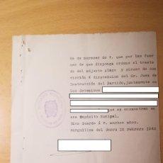 Militaria: DOCUMENTO TRASLADO DE DETENIDOS, BURGUILLOS DEL CERRO, BADAJOZ, AÑO 1942. Lote 194916120
