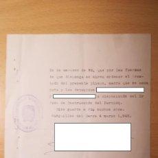 Militaria: DOCUMENTO TRASLADO DE DETENIDOS, BURGUILLOS DEL CERRO, BADAJOZ, AÑO 1942. Lote 194916635
