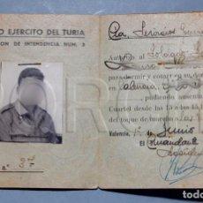 Militaria: CARNET MILITAR CUERPO DEL EJÉRCITO DEL TURIA - AGRUPACIÓN INTENDENCIA 3 - 1960 -. Lote 194966396