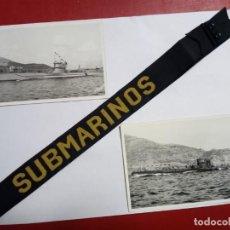 Militaria: CINTA DE LEPANTO.SUBMARINOS.DOS FOTOGRAFIAS ORIGINALES DE CASAU.G-7 Y S-01. Lote 194978042