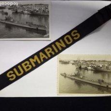 Militaria: LOTE CINTA Y SUBMARINOS G.S Y G.M..CLASE TORRICELLI.MARINA DE GUERRA.. Lote 194978080